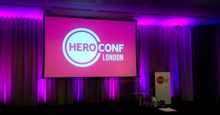 Konferansesalen på Hero Conference i London 2016